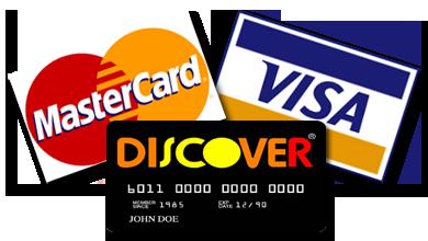 we accept visa mastercard discover logo